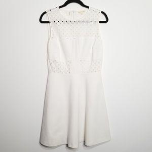 Rebecca Taylor Size 8 Eyelet Bodice Dress 0219